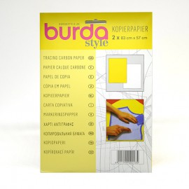 Papel de calco o copia amarillo - blanco Burda