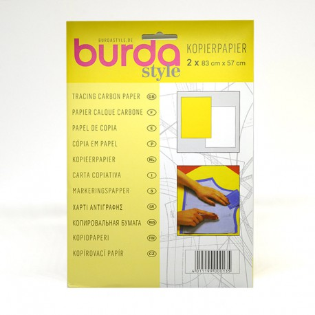 Papel de Calcar amarillo/blanco (Burda)