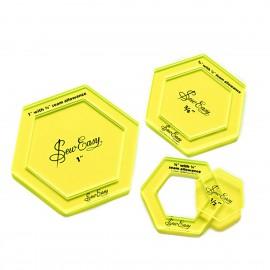 """Plantillas Hexagonales pequeñas 1/2"""" 3/4"""" 1"""""""