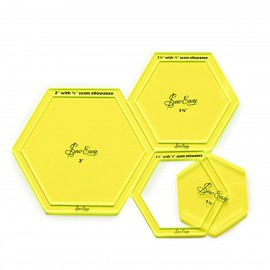 """Plantillas Hexagonales grandes 1 1/4"""", 1 1/2 y 2"""""""