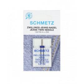 Aguja doble Schmetz Vaqueros 130/705 H-J ZWI 4,0/100
