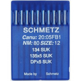 Aguja Schmetz 134 (R) SUK 10 uds